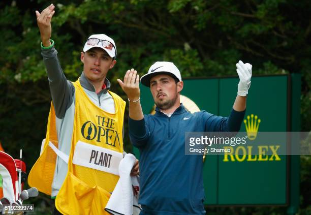 Amateur Alfie Plant of England with his caddie on the 5th hole during the first round of the 146th Open Championship at Royal Birkdale on July 20...