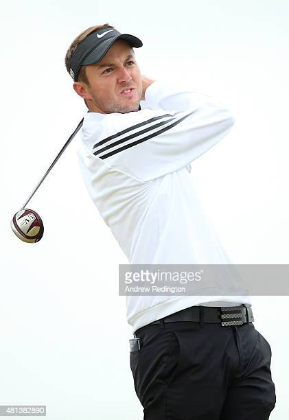 Amateur Ashley Chesters of England tees off on the 6th hole during the final round of the 144th Open Championship at The Old Course on July 20 2015...
