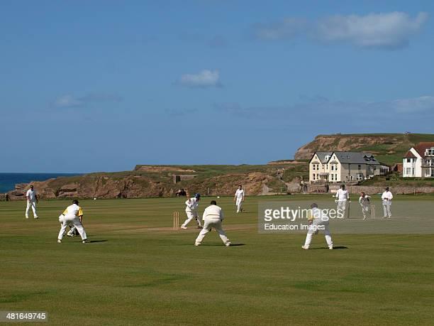 Amateur Cricket match Bude Cornwall UK