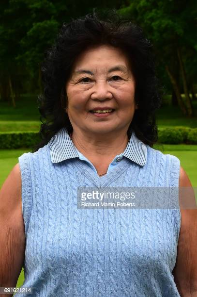 Amateur Doreen Hesketh of Ormskirk GC poses for a portrait following her third lowest round during the Lombard Trophy Women's PGA North Qualifier at...