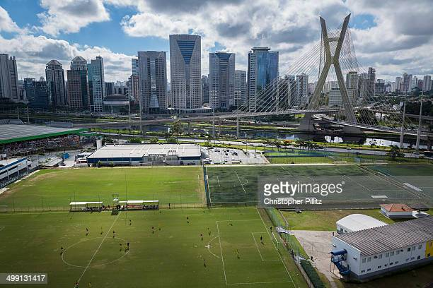 Amateur football match in Sao Paulo city