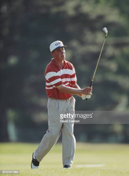 Amateur golfer Justin Leonard of the United States plays a shot on the fairway during the 93rd U.S. Open golf tournament on 18 June 1993 at the...