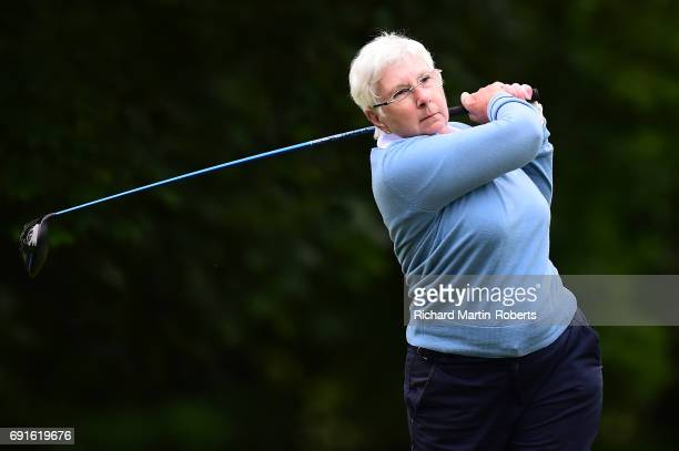 Amateur Helen Porter of Saffron Walden GC tees off during the Lombard Trophy Women's PGA North Qualifier at Dunham Forest Golf and Country Club on...