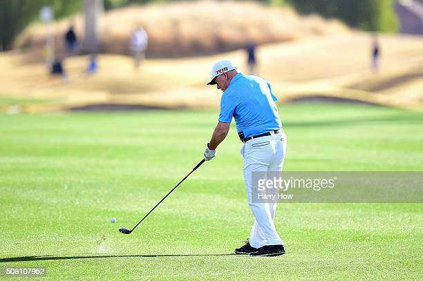 Amateur Laurent Hurtubise plays a shot from the fairway on the 12th hole during the first round of the CareerBuilder Challenge In Partnership With...