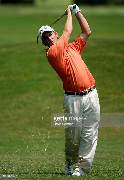 Amateur Matt Every hits a shot on the tenth hole during the final round of the U.S. Open on Pinehurst No. 2 at the Pinehurst Resort on June 19, 2005...