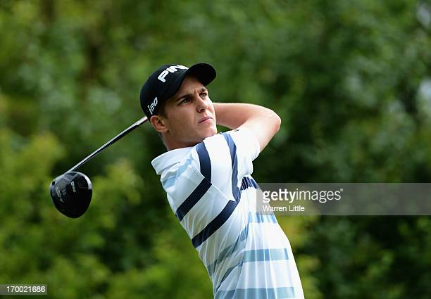 Amateur Matthias Schwab of Austria in action during the first round of the Lyoness Open powered by Greenfinity at Diamond Country Club on June 6 2013...