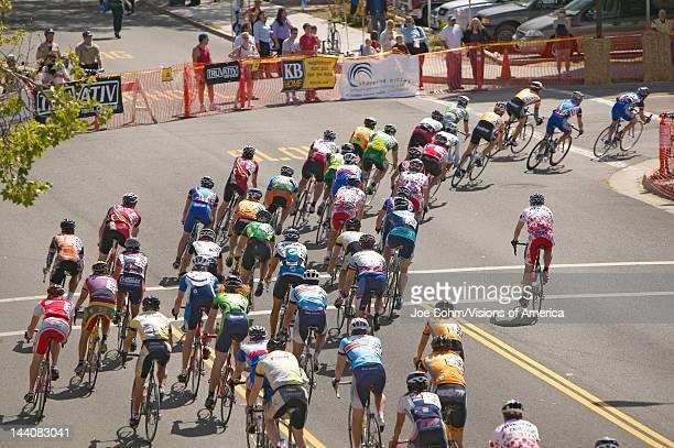 Amateur Men Bicyclists competing in the Garrett Lemire Memorial Grand Prix National Racing Circuit on April 10, 2005 in Ojai, CA