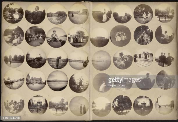 Amateur World Tour Album, taken with a Kodak Bulls-Eye camera, plus purchased travel photographs by various photographers, G. H. , Leon & Levy , J....