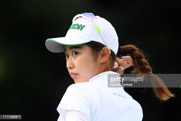 Amateur Yuka Yasuda of Japan is seen on the 17th tee during the third round of the Nitori Ladies at Otaru Country Club on August 31 2019 in Otaru...