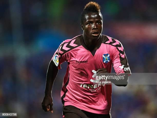 Amath Ndiaye of CD Tenerife looks on during La Liga 2 play off round between Getafe and CD Tenerife at Coliseum Alfonso Perez Stadium on June 24 2017...