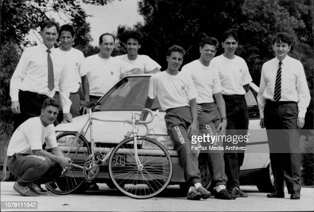 Amature Australian Cycling Team destined for Europe have just received Citroen sponsorshipAussie Team To Europe Tony Franklin Citroen director David...