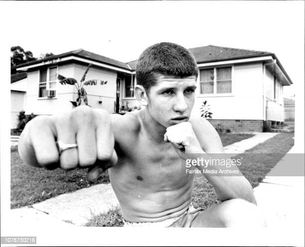 Amature Junior Bantam weight champion of Australia Boxer Joe Glover 17 of Busby November 2 1983