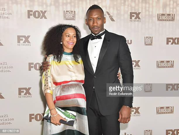 Amatus SamiKarim and actor Marhershala Ali attend FOX and FX's 2017 Golden Globe Awards after party at The Beverly Hilton Hotel on January 8 2017 in...