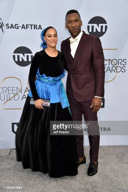Amatus SamiKarim and Mahershala Ali attend the 25th Annual Screen Actors Guild Awards at The Shrine Auditorium on January 27 2019 in Los Angeles...