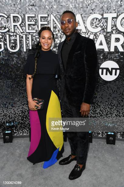 Amatus SamiKarim and Mahershala Ali attend the 26th Annual Screen ActorsGuild Awards at The Shrine Auditorium on January 19 2020 in Los Angeles...