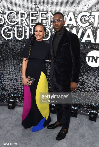 Amatus SamiKarim and Mahershala Ali attend the 26th Annual Screen Actors Guild Awards at The Shrine Auditorium on January 19 2020 in Los Angeles...