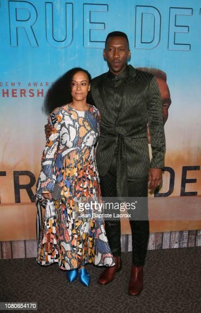 Amatus SamiKarim and Mahershala Ali attend the HBO premiere of True Detective Season 3 at DGA Theater on January 10 2019 in Los Angeles California