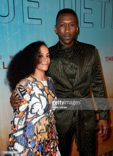 Amatus SamiKarim and Mahershala Ali attend the premiere of HBO's 'True Detective' Season 3 at Directors Guild Of America on January 10 2019 in Los...