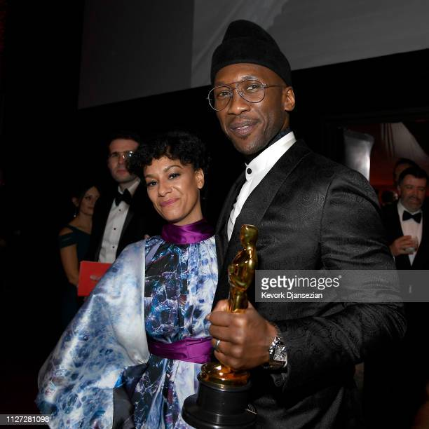 Amatus SamiKarim and Mahershala Ali winner of the Actor in a Supporting Role award for 'Green Book' attend the 91st Annual Academy Awards Governors...