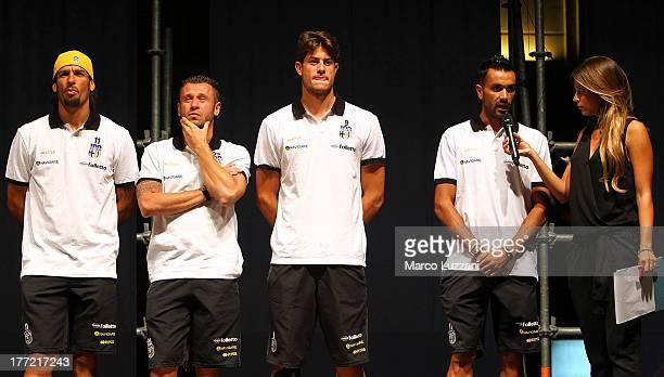 Amauri Carvalho De Oliveira Antonio Cassano Alberto Cerri Raffaele Palladino and Federica Masolin attend the FC Parma Team Presentation on August 22...