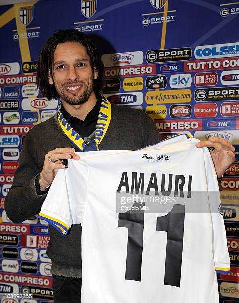 Amauri Signs For FC Parma at Stadio Ennio Tardini on February 1, 2011 in Parma, Italy.