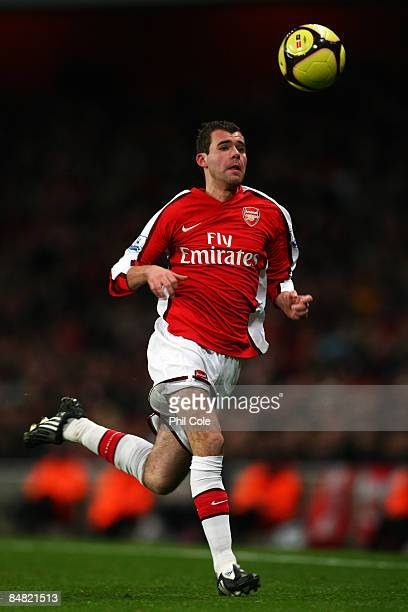 Amaury Bischoff of Arsenal in action during the FA Cup 4th Round Replay between Arsenal and Cardiff City at the Emirates Stadium on February 16 2009...