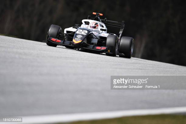 Amaury Cordeel of Belgium and Campos Racing drives during Day Two of Formula 3 Testing at Red Bull Ring on April 04, 2021 in Spielberg, Austria.