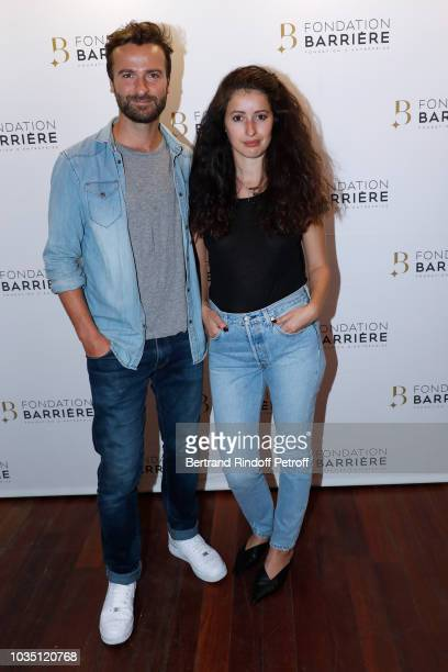Amaury de Crayencour and Baya Rehaz attend 'Les Chatouilles' Premiere hosted by Fondation Diane Lucien Barriere at Drugstore Publicis Cinema on...