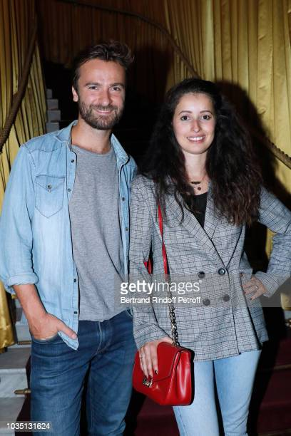 Amaury de Crayencour and Baya Rehaz attend the Cocktail at Hotel Barriere Le Fouquet's after 'Les Chatouilles' Premiere hosted by Fondation Diane...