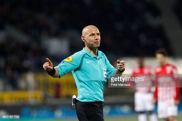 Amaury Delerue referee during the Ligue 1 match between As Nancy Lorraine and Lille OSC at Stade Marcel Picot on March 11 2017 in Nancy France