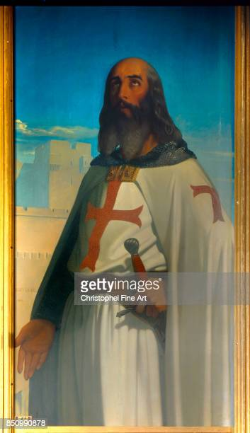 Amaury Duval Eugene Portrait of Jacques de Molay Grand Master of the Knights Templar Palace of Versailles