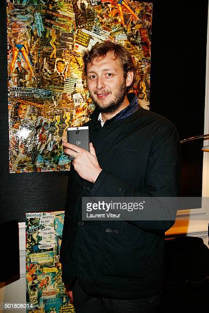 Amaury Levaux attends 'Accords Croises' Anne Mondy's exhibition at Rue Bonaparte on December 17 2015 in Paris France