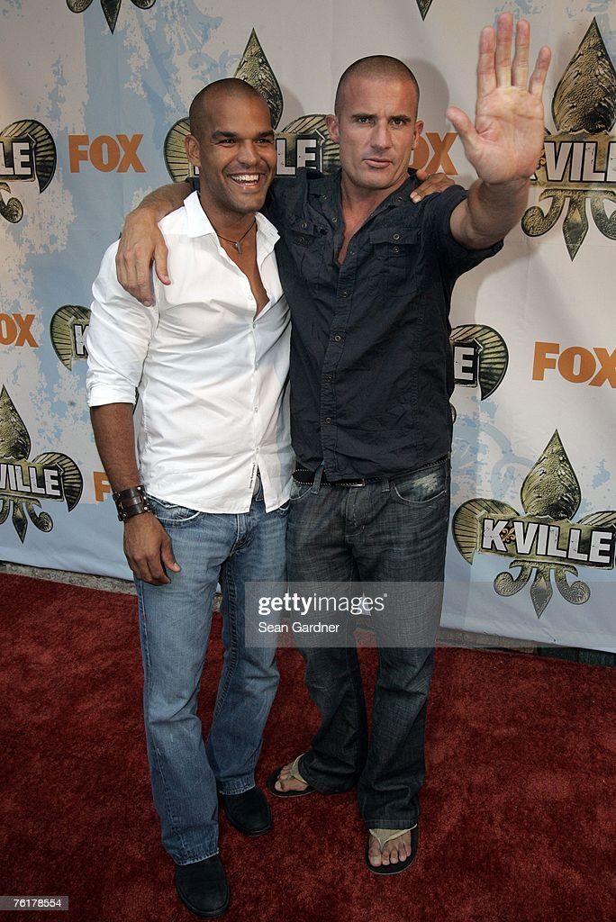 Amaury Nolasco and Dominic Purcell arrive for the Fox Premiere of