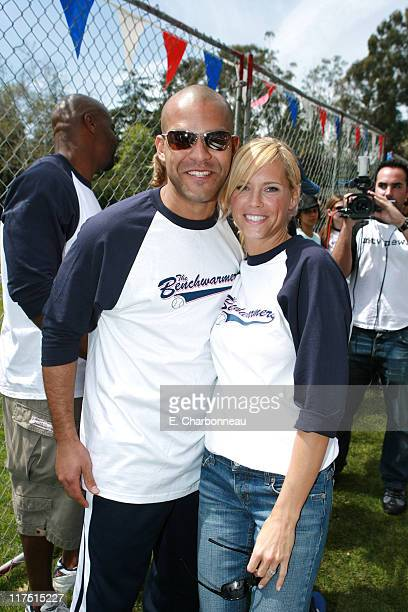 Amaury Nolasco and Erinn Bartlett during Revolution Studios and Columbia Pictures Premiere of The Benchwarmers at Sunset Canyon Recreation...