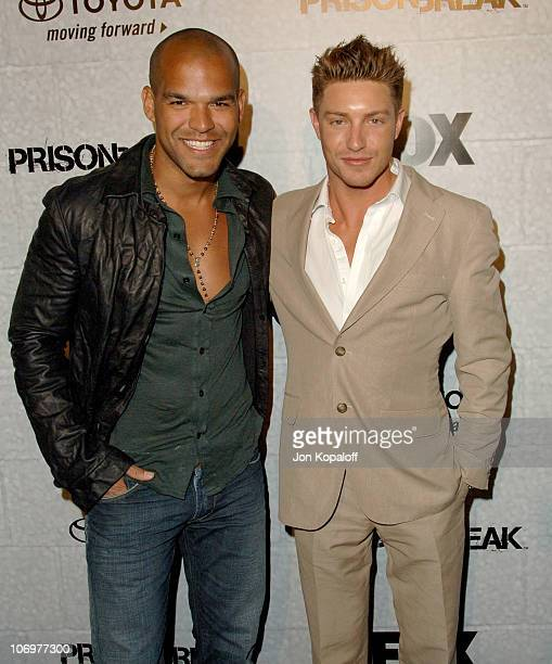 Amaury Nolasco and Lane Garrison during Prison Break End of Season Screening Party at Fox Lot in Los Angeles California United States