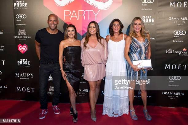 Amaury Nolasco Eva Longoria Maria Bravo Pilar Garcia de la Granja and Ana Obregon attend the Global Gift Party Marbella on July 15 2017 in Marbella...