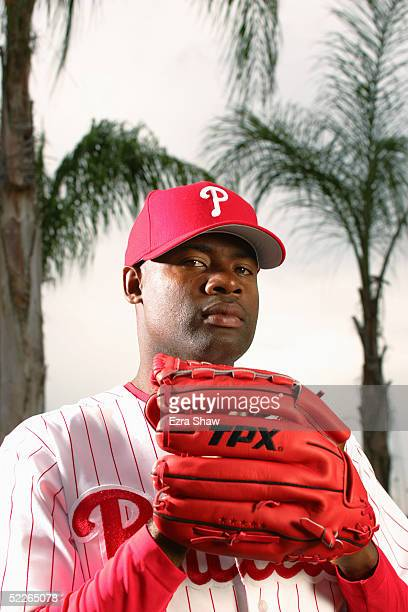 Amaury Telemaco of the Philadelphia Phillies poses for a portrait during Phillies Photo Day at Bright House Networks Field on February 24, 2005 in...