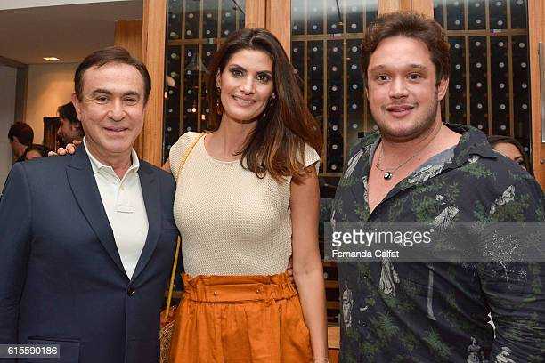 Amauty Jr Isabela Fiorentino and Helinho Calfat attend LOVE TOGETHER BRASIL Dinner In Honor Of Costanza Pascolato at Rodeio Churrascaria on October...
