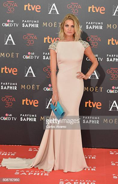 Amaya Salamanca attends Goya Cinema Awards 2016 at Madrid Marriott Auditorium on February 6 2016 in Madrid Spain