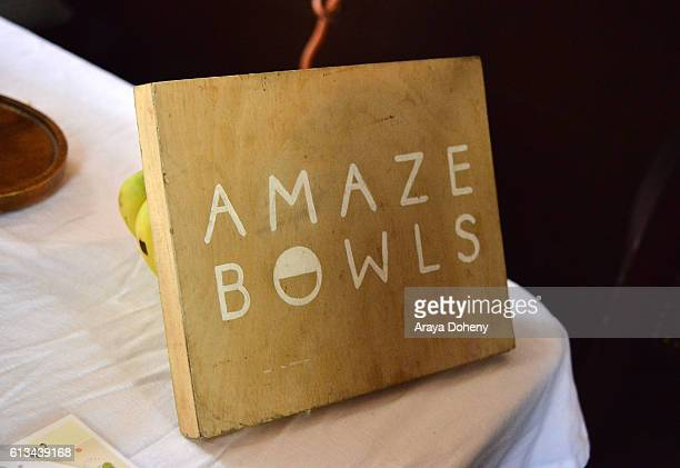 Amaze Bowls at the Simply Stylist Sessions Hosted by Jamie Chung and Dawn McCoy at The Whisper Lounge on October 8 2016 in Los Angeles California