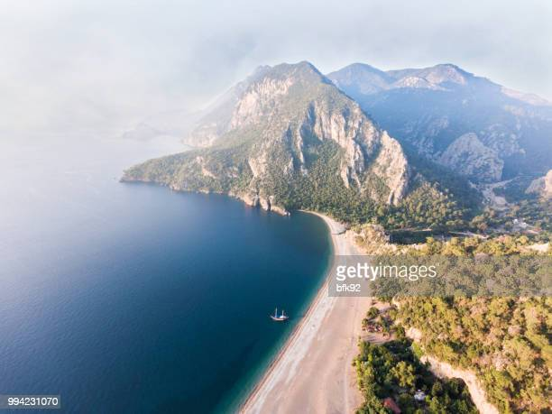 amazing aerial view of olympos in antalya - antalya province stock pictures, royalty-free photos & images