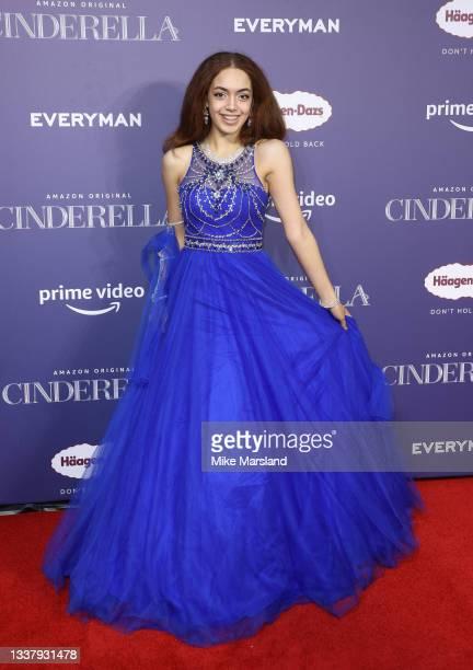 "Amazing Arabella attends the ""Cinderella"" UK Partner Event at Everyman Broadgate on September 02, 2021 in London, England."