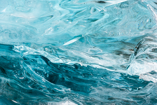 Amazing blue ice textura wall in the cave. Hofn. Iceland 576740178