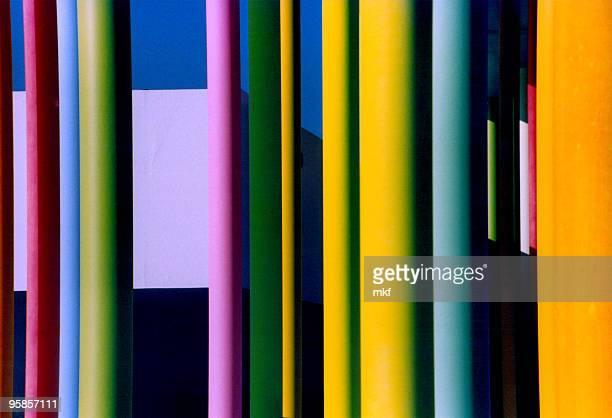 Amazing colourful pillars