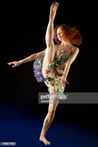 Amazing Dancer; Stop-Action of Dancing Woman's High Kick