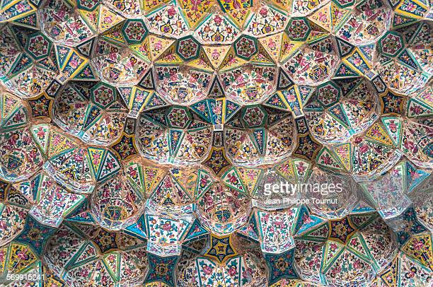 Amazing details on Mosque entrance in Shiraz, Iran