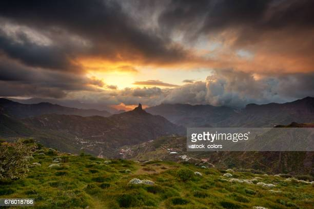 amazing dramatic landscape in grand canary - tejeda canary islands stock pictures, royalty-free photos & images