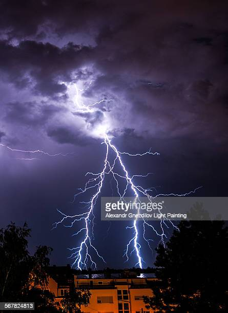 Amazing forked lightning