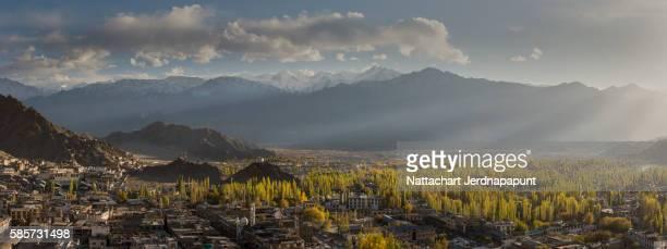 Amazing horizontal view of Himalaya mountain range in Leh Ladakh
