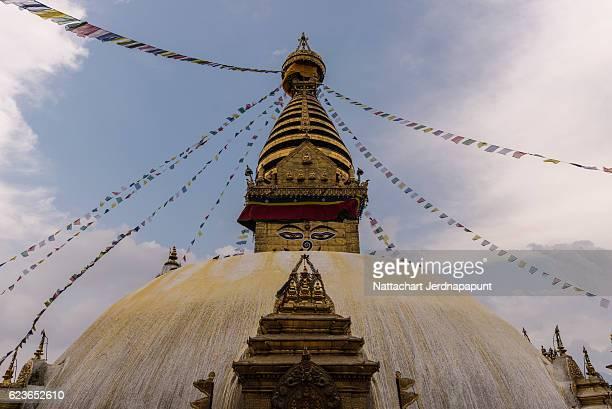 Amazing landmark of Nepal,Swayambhunath Stupa